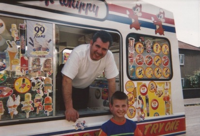 My Dad selling Ice cream